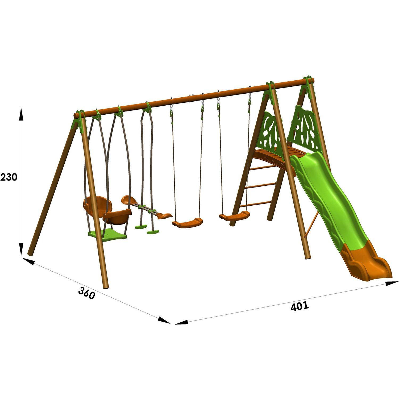 Trigano Schaukel-Set Helio Techwood 2,3 m inkl. 5 Geräte kaufen bei OBI