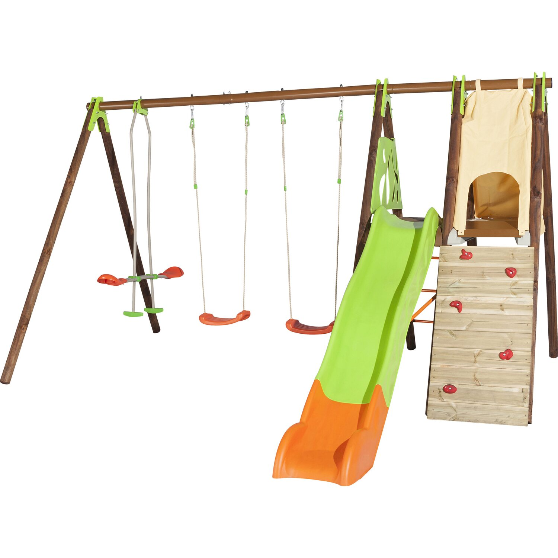 Trigano Schaukel-Set Appolo Techwood 2,3 m inkl. 6 Geräte | Kinderzimmer > Spielzeuge > Schaukeln & Rutschen | Holz -  metall | Trigano