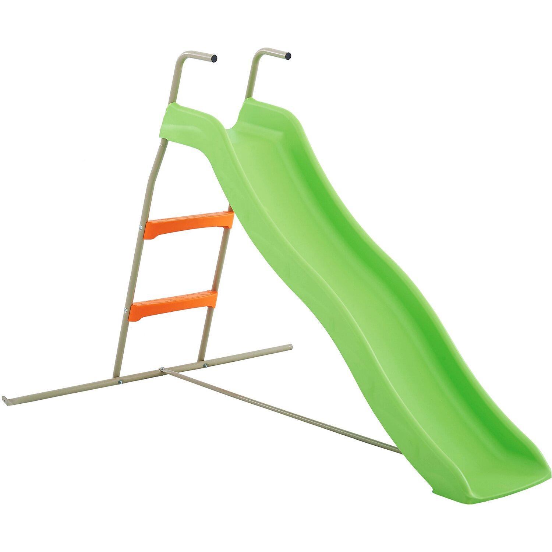 Trigano Rutsche 173 cm Grau-Grün mit Leiter