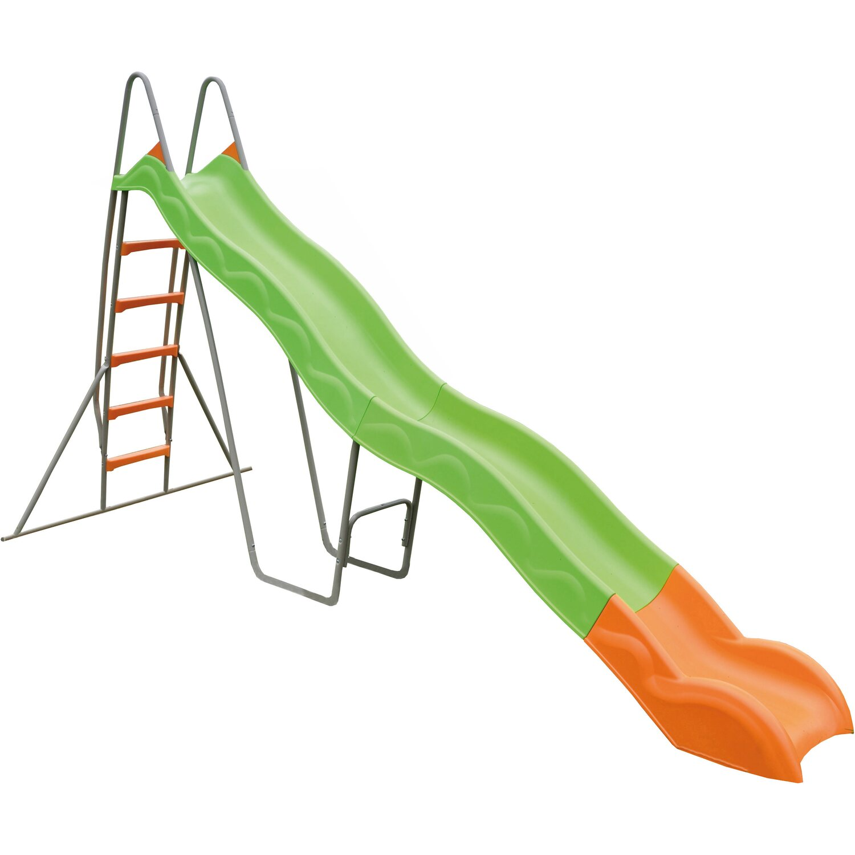 Trigano Rutsche 380 cm Grau-Grün mit Leiter