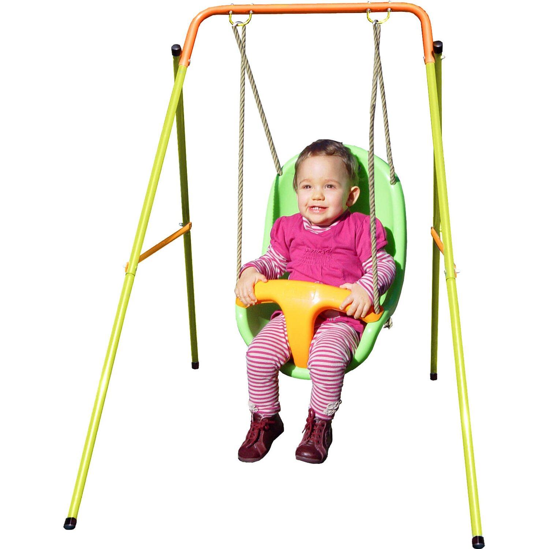 Trigano Babyschaukel aus Metall Grün-Orange Höhe 120 cm kaufen bei OBI