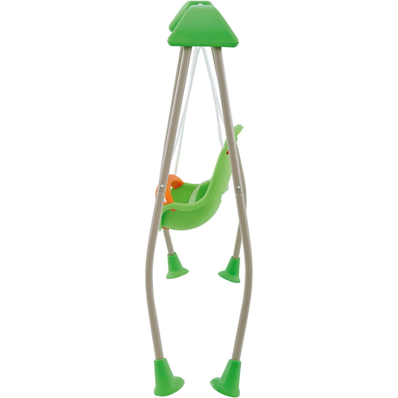 Trigano Babyschaukel aus Metall Grau-Grün Höhe 120 cm klappbar ...