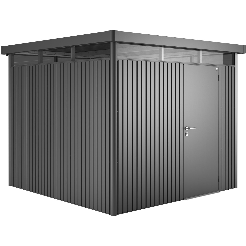 biohort ger tehaus highline gr e h4 dunkelgrau metallic mit doppelt r kaufen bei obi. Black Bedroom Furniture Sets. Home Design Ideas