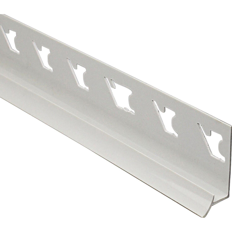 Arcansas Eckfuge PVC glänzend Weiß 10 mm x 2,5 m