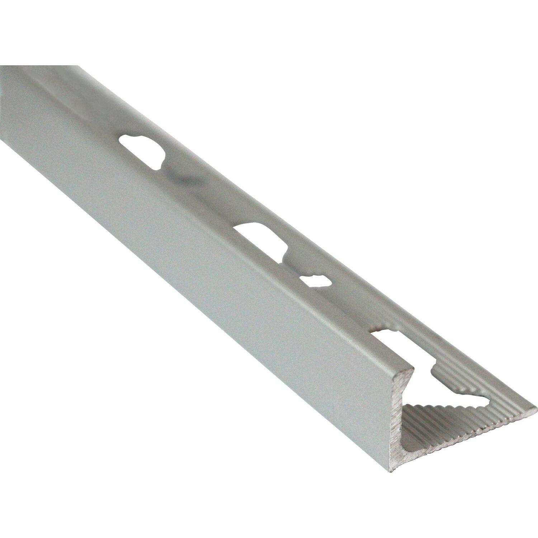 H/öhe: 8mm PREMIUM FUCHS Fliesenschiene Viertelkreisprofil Aluminium Eloxiert silber matt 1mm St/ärke 25 METER 250cm Schiene