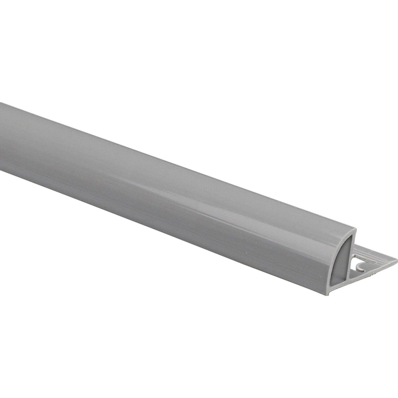 Viertelkreis Abschlussprofil PVC glänzend Dunkelgrau 8 mm x 8,8 m ...