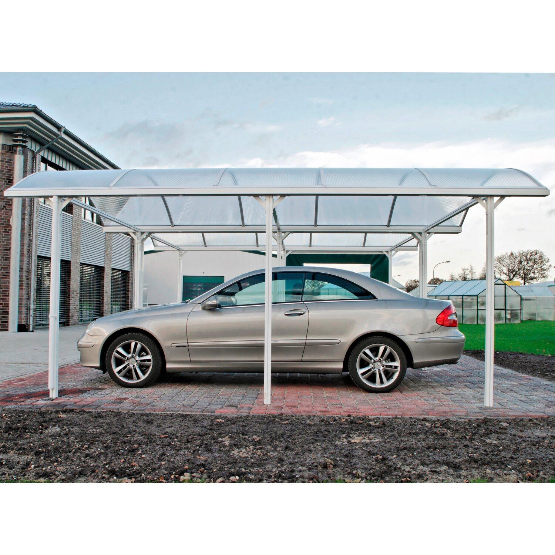 Kgt Runddach Einzelcarport Elbe Aluminium Silber 312 Cm X 531 Cm