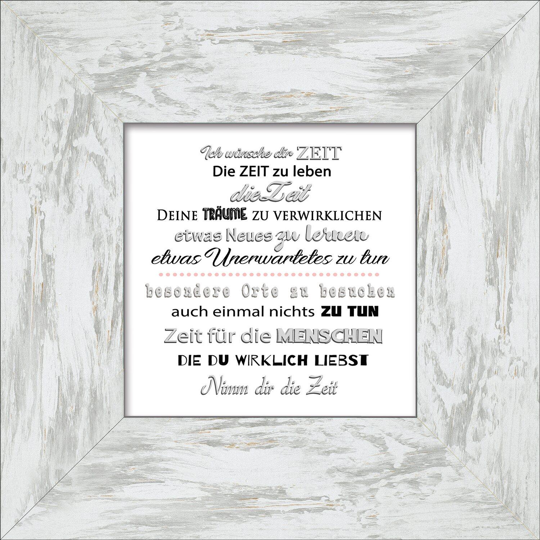 Bild mit Rahmen Black & White Slogan 34 cm x 34 cm kaufen bei OBI