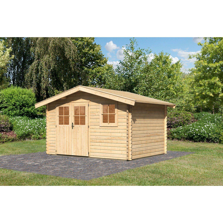 Karibu Holz Gartenhaus Arosa 4 Natur B X T 342 Cm X 252 Cm Kaufen Bei Obi