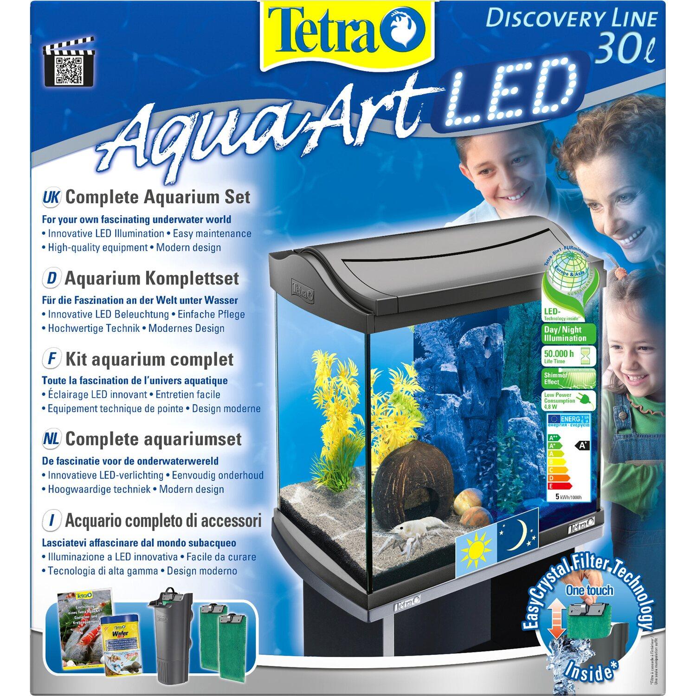 Tetra Aquarium-Set AquaArt Discovery Line LED 30 l Anthrazit kaufen ...