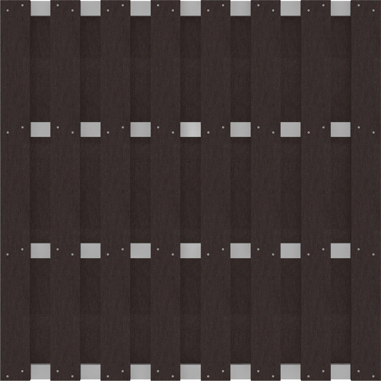 Groja fertigzaun solid quadratisch 180 cm x 180 cm x 37 cm anthrazit