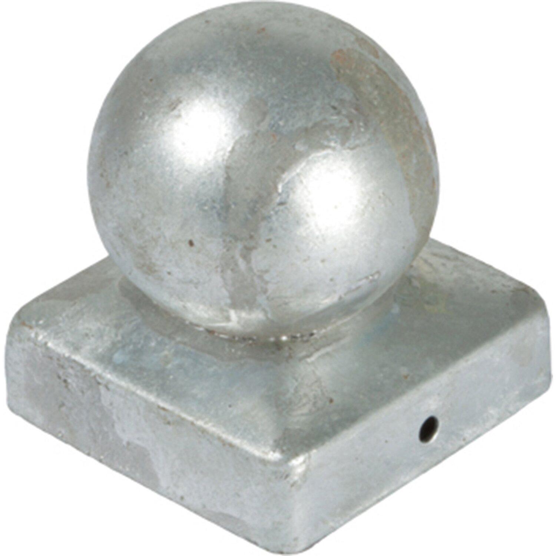 T j pfosten abdeckung aus metal 7x7 kugel - Obi holzpfosten ...