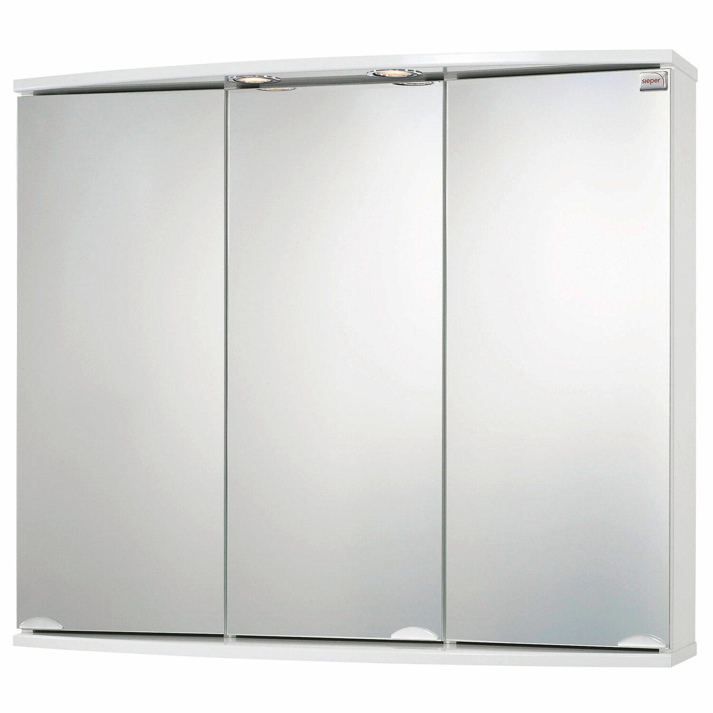 Sieper Spiegelschrank, Modena 83 cm Weiß EEK: C kaufen bei OBI