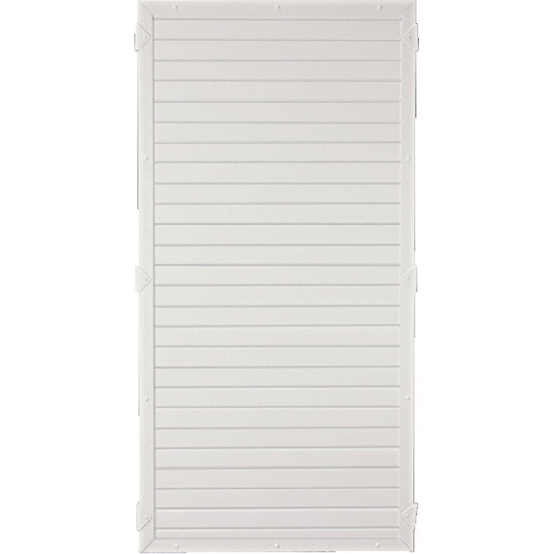 LIGHTLINE Kunststoff Pfosten 9 x 9 x 240 cm weiß für Sichtschutzelement T/&J