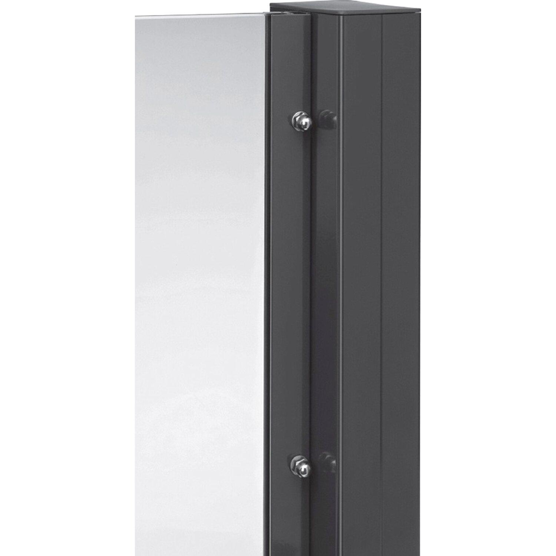 T J Aluminium Zaunpfosten Tejeflex Anthrazit 58 92 X 1870 Mm