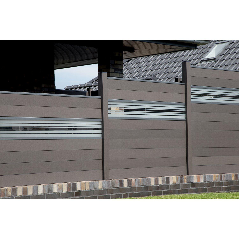 Groja Steckzaun Solid Mit Glas Designeinsatz 30 Cm 180x180x1 9 Cm