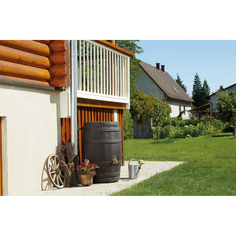 garantia regenwasser beh lter fass barrica dunkelbraun 260. Black Bedroom Furniture Sets. Home Design Ideas