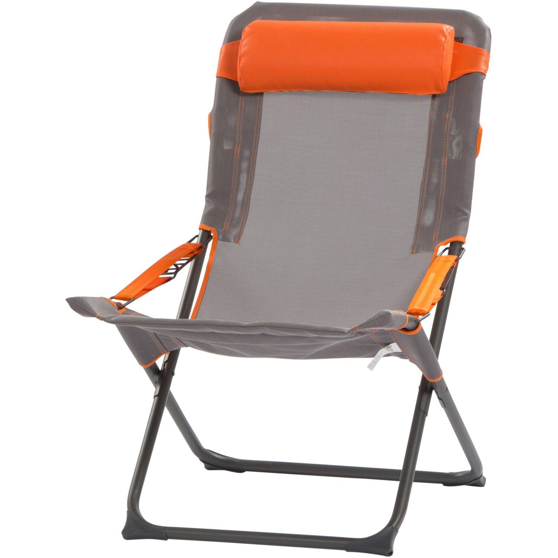 Portal Campingstuhl Eddy Grau 60 cm x 48 cm x 100 cm | Baumarkt > Camping und Zubehör > Campingmöbel | Portal