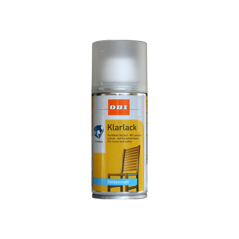 Obi Klarlack Spray Transparent Seidenmatt 150 Ml Kaufen Bei Obi