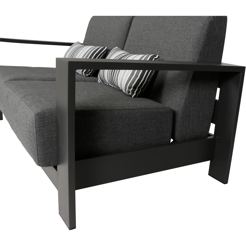 Siena Garden Lounge Sofa 2 Sitzer Alando Anthrazit 165 Cm X 85 Cm X