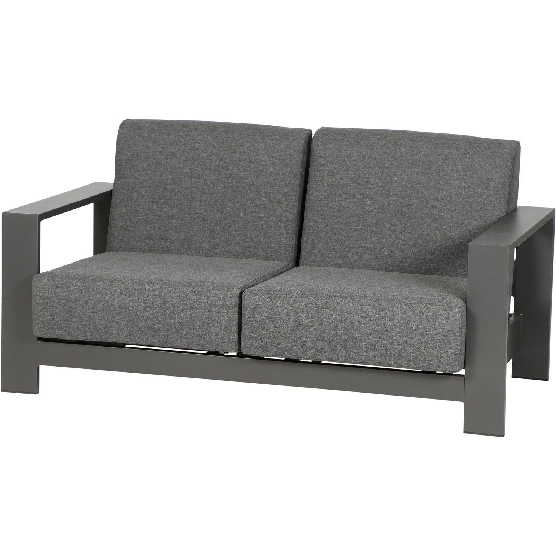 siena garden lounge sofa 2 sitzer alando anthrazit 165 cm. Black Bedroom Furniture Sets. Home Design Ideas