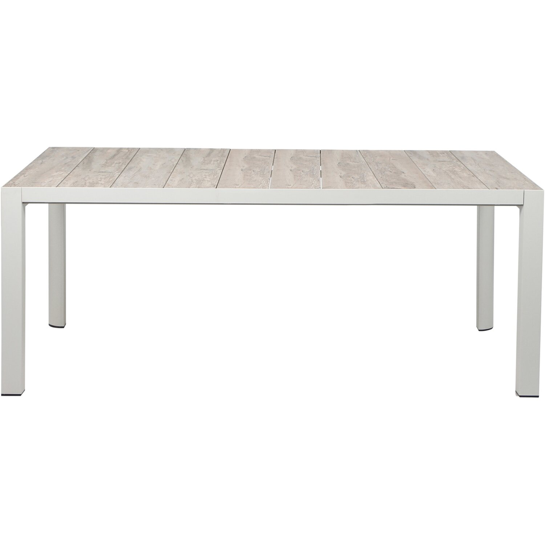 Siena Garden Tisch Silva Matt Weiß-Grau 36 cm x 36 cm