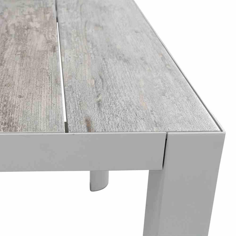 Siena Garden Tisch Silva Matt Weiss Grau 182 Cm X 100 Cm Kaufen Bei Obi
