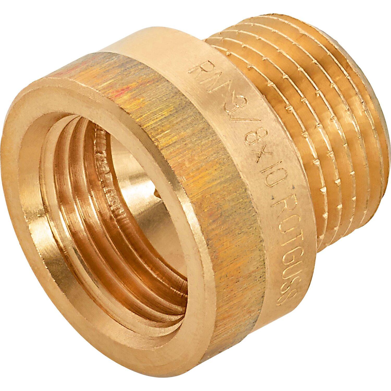 OBI Hahnverlängerung 14,9 mm (Rp 3/8) x 16,7 mm (R 3/8) Rotguss 10 mm