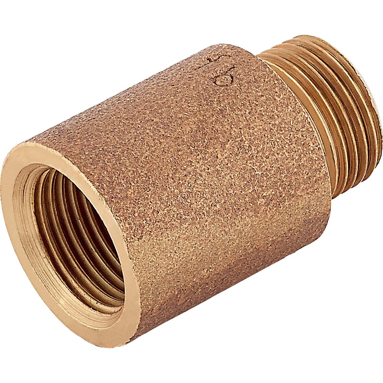 OBI Hahnverlängerung 14,9 mm (Rp 3/8) x 16,7 mm (R 3/8) Rotguss 25 mm