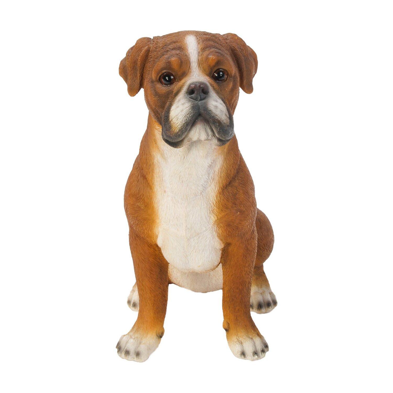 Hund Deko.Deko Figur Hund Boxer 25 Cm