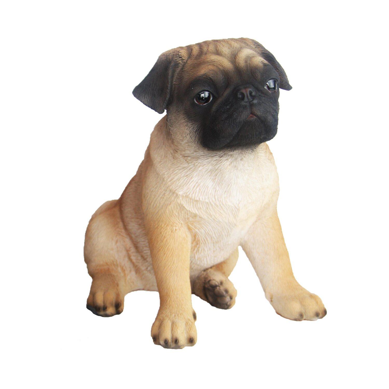 Deko Figur Hund Mops 29 Cm