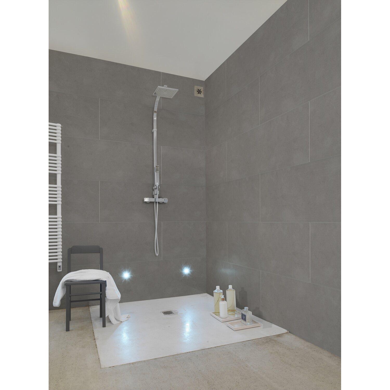 Grosfillex Hohlkammer-Wandverkleidung Element Compact Beton Grau 120 x 37,5  cm