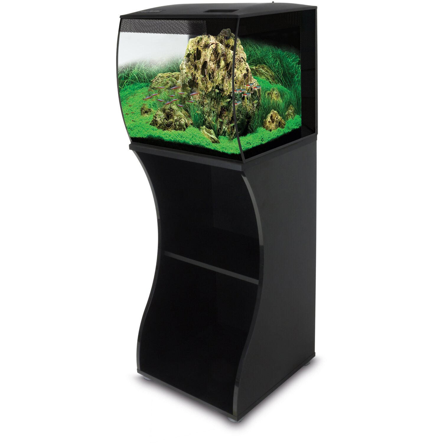 fluval aquarium set kombi flex led 57 l schwarz kaufen bei obi. Black Bedroom Furniture Sets. Home Design Ideas