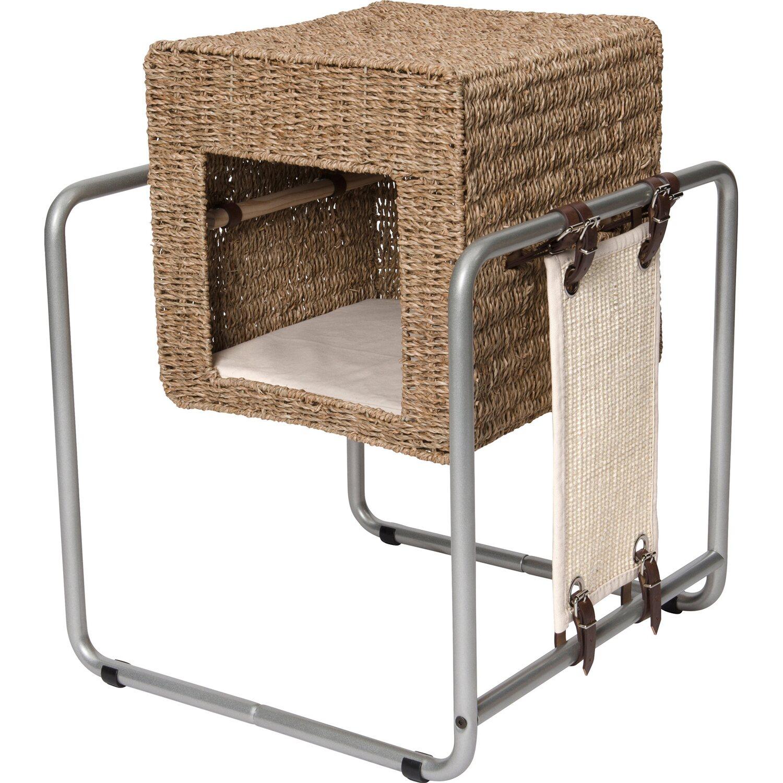 Vesper Katzenhöhle Cube mit Stahlrohrrahmen Seegras kaufen bei OBI