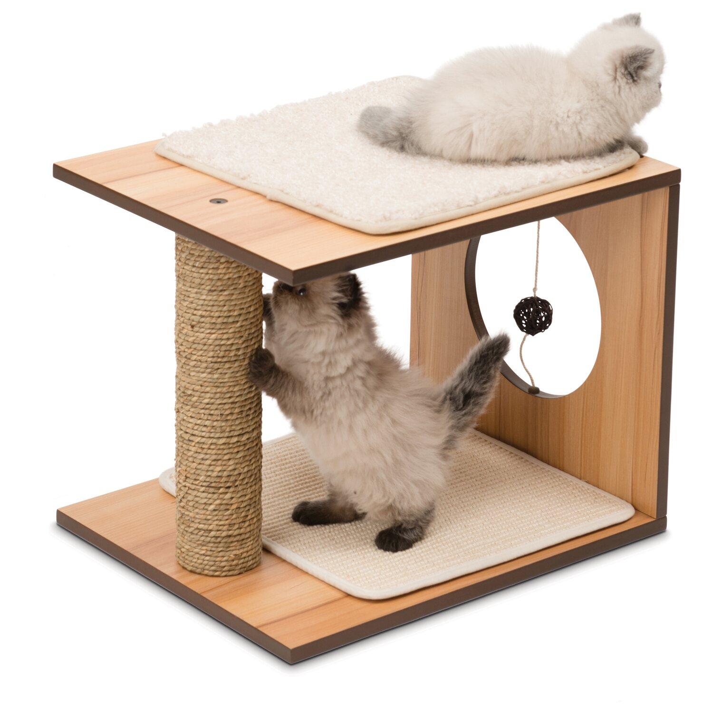 vesper kratzbaum stool 48 cm x 13 cm x 38 cm walnuss kaufen bei obi. Black Bedroom Furniture Sets. Home Design Ideas