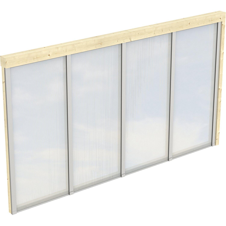 skan holz polycarbonat seitenwand f r terrassen berdachung 400 389 cm tiefe kaufen bei obi. Black Bedroom Furniture Sets. Home Design Ideas