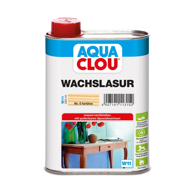 CLOU Aqua Clou Wachslasur Transparent 250 ml