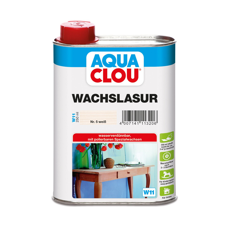 CLOU Aqua Clou Wachslasur Weiß 750 ml