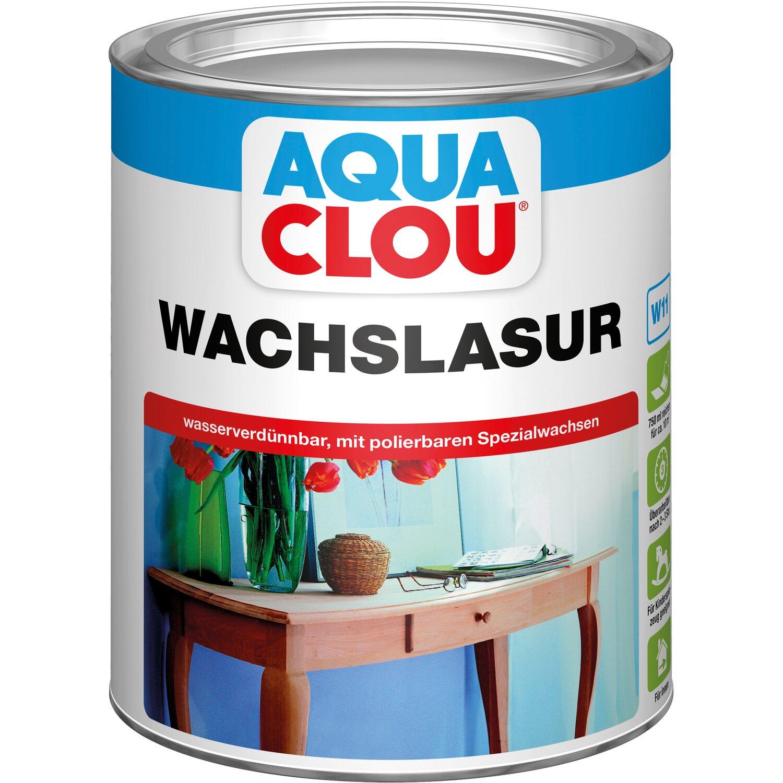 CLOU Aqua Clou Wachslasur Hellbraun 750 ml