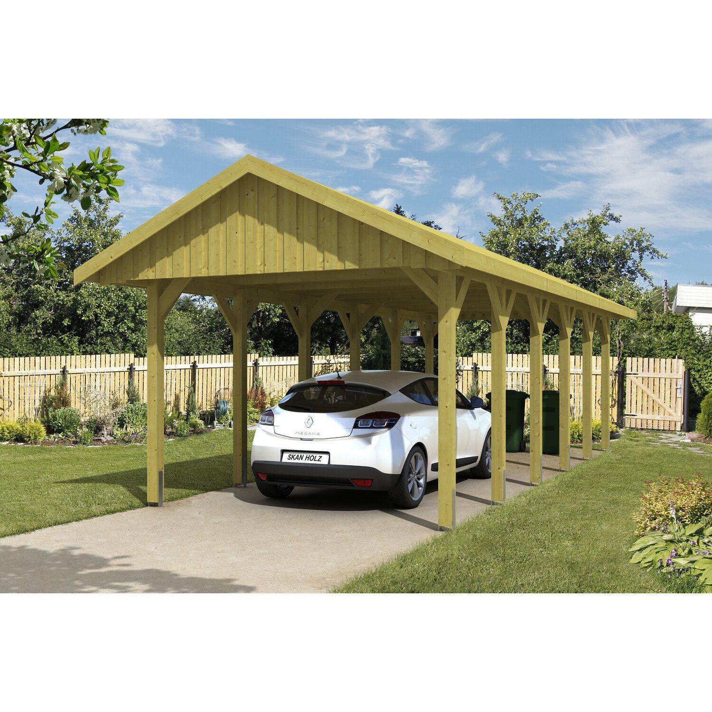 Skan Holz Satteldach-Carport Sauerland 380 cm x 900 cm Dachschalung | Baumarkt > Garagen und Carports > Carports | Holz - Kiefernholz | Skan Holz