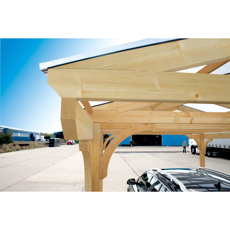 Skan Holz Satteldach-Carport Westerwald 570 cm x 541 cm runde ...