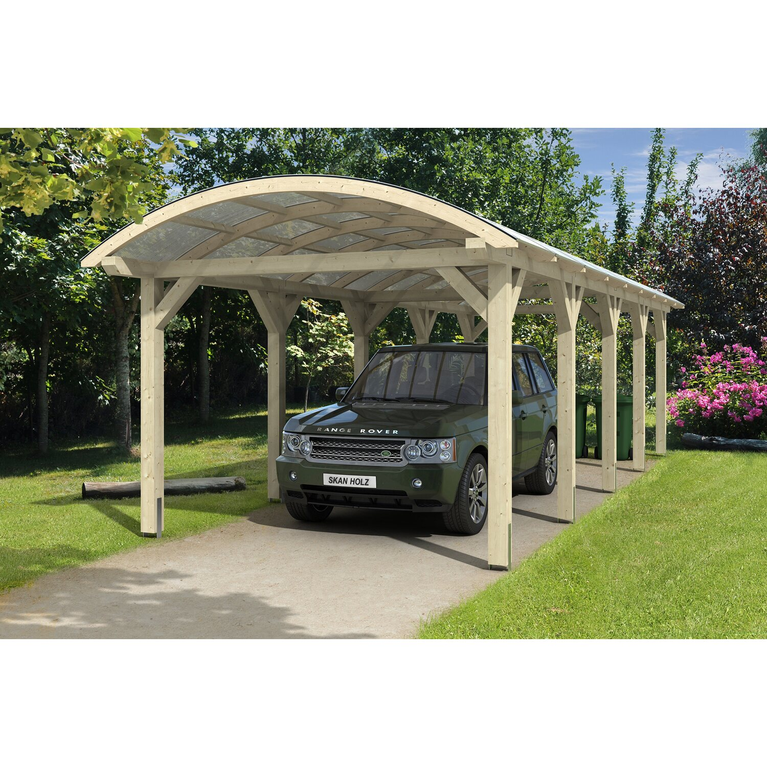 skan holz bogendach carport franken 376 cm x 969 cm kaufen bei obi. Black Bedroom Furniture Sets. Home Design Ideas
