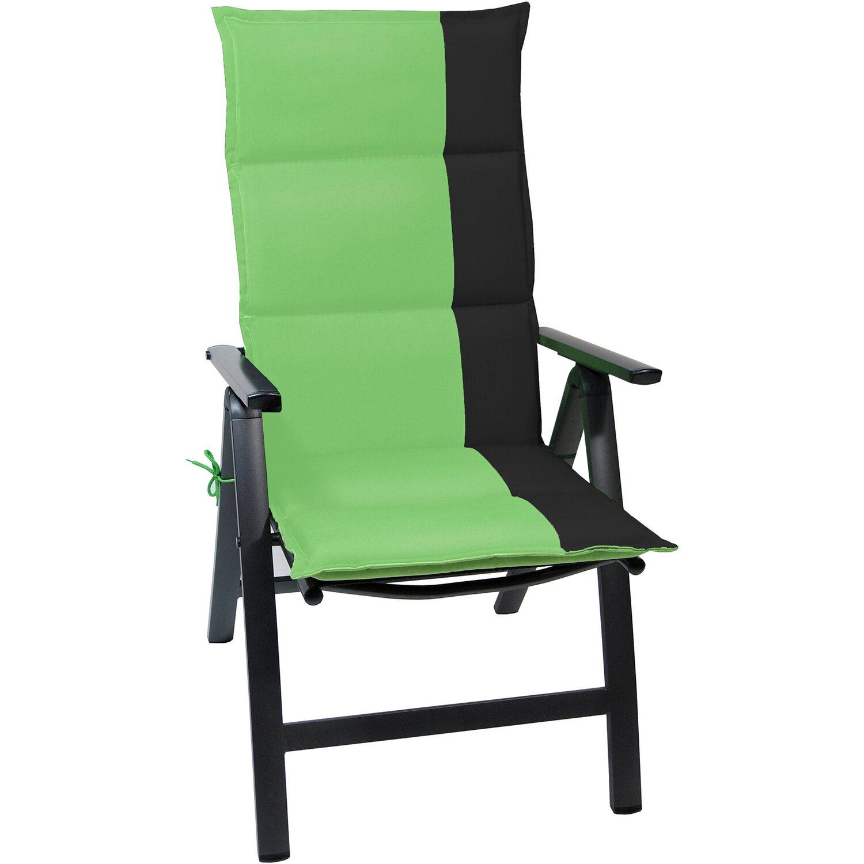 hochlehner auflage capri gr n schwarz kaufen bei obi. Black Bedroom Furniture Sets. Home Design Ideas