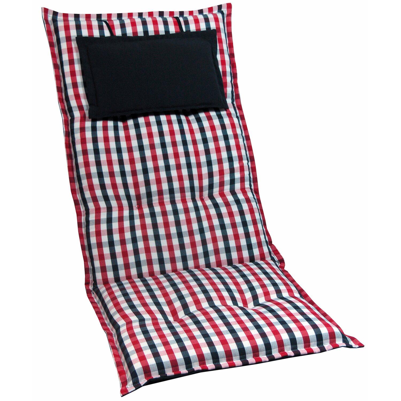 hochlehner auflage portland karo rot schwarz wei kaufen bei obi. Black Bedroom Furniture Sets. Home Design Ideas
