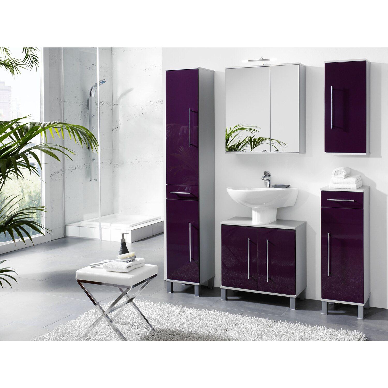 kesper waschbeckenunterschrank 2 t rig elba brombeere hochgl nzend kaufen bei obi. Black Bedroom Furniture Sets. Home Design Ideas