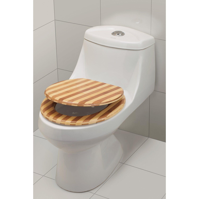 obi wc sitz azero bambus streifen kaufen bei obi. Black Bedroom Furniture Sets. Home Design Ideas