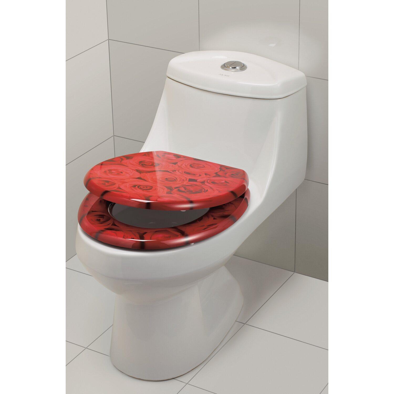 obi wc sitz rosas motiv rosen kaufen bei obi. Black Bedroom Furniture Sets. Home Design Ideas