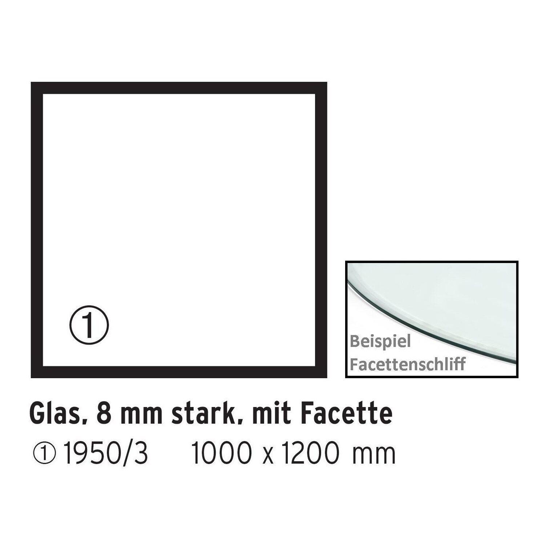 Firefix  Glasbodenplatte Rechteck