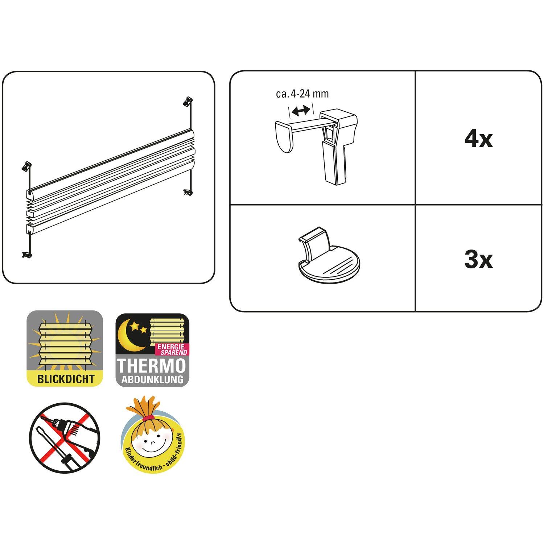 gardinia easy fix plissee tag und nacht wei 80 cm x 130 cm kaufen bei obi. Black Bedroom Furniture Sets. Home Design Ideas