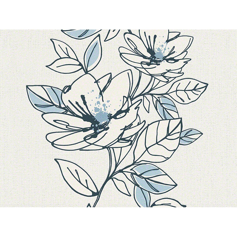 Brigitte  Home Vliestapete Blume Blau